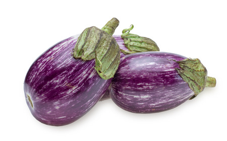 stripe pattern: Eggplant of the stripe pattern Stock Photo