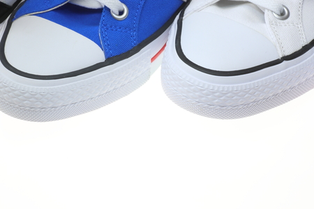 pictured: Closeup pictured of sneakers