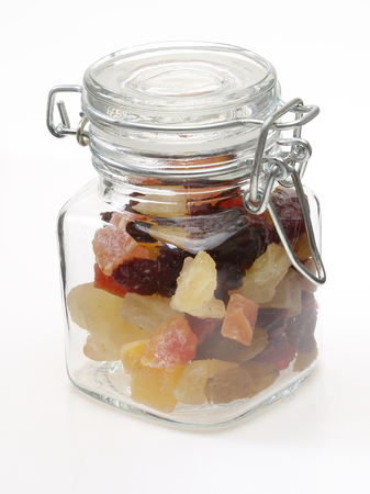 dry fruits: Dry fruits in a jar Stock Photo