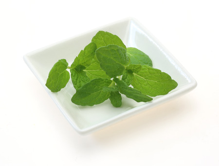 Peppermint on a dish