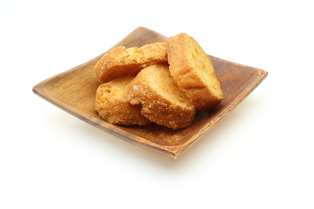 rusk: Rusk on a wooden plate