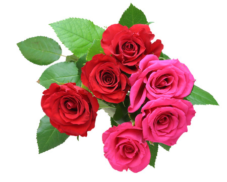 bouquet: Bouquet of roses with leaves