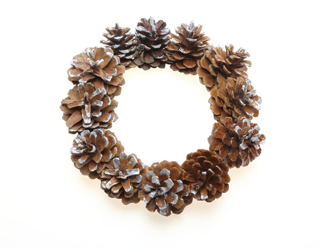 pine cone: Wreath made of pine cone Stock Photo