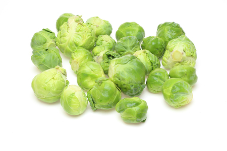 Brussels sprouts in a white background