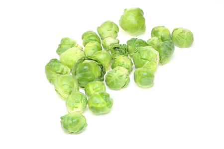 brussels sprouts: Brussels sprouts in a white background