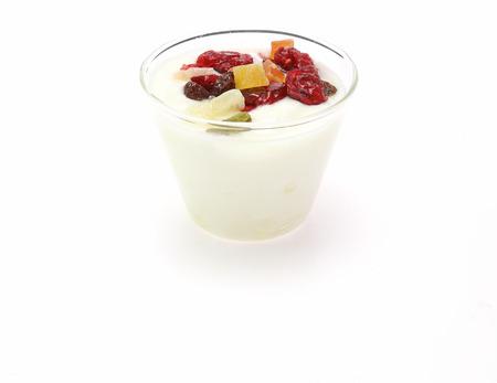 frutas secas: Yogur con frutos secos