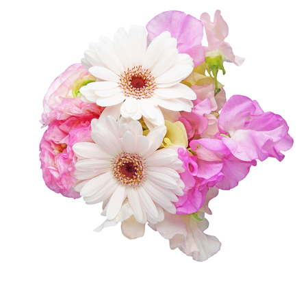 persian buttercup: Bouquet of sweetpea, persian buttercup and transvaal