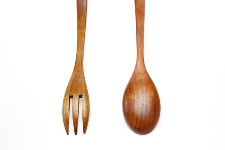 Forcella di legno e cucchiaio