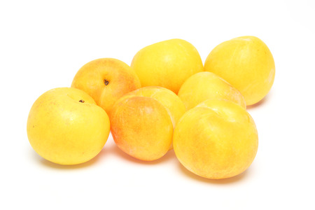 Plums in a white background