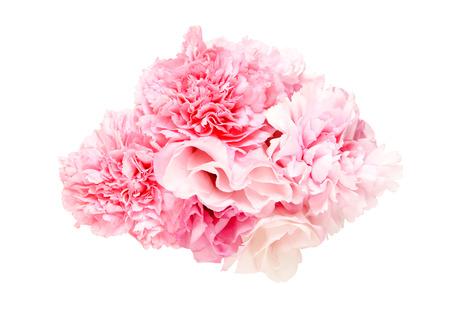 トルコギキョウ、カーネーションの花束 写真素材