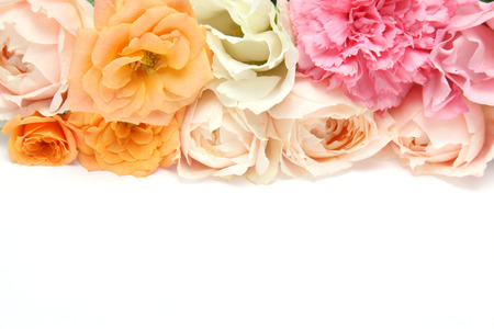 Bouquet of carnation, eustoma and rose