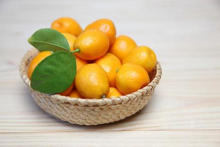 Kumquat in a basket