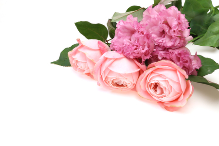 Bouquet of eustoma and rose