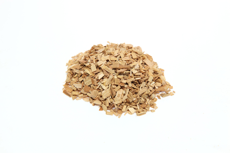 Timber chip in a white background