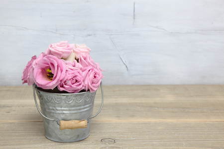 Eustoma in a tin can