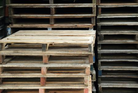 木製パレット 写真素材