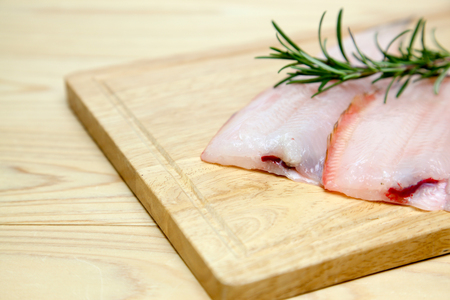 fillet of sole on a cutting board