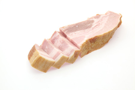 bacon in a white background