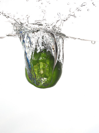 green pepper in the water