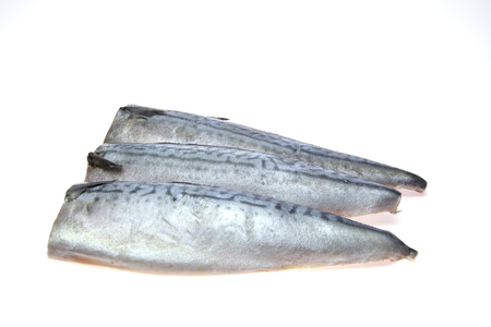 salted mackerel in white background
