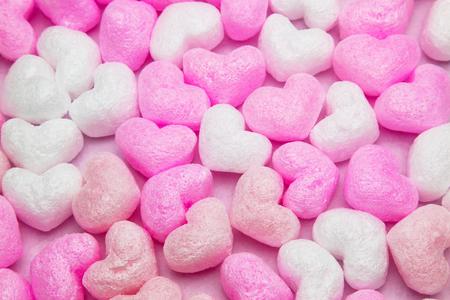 heart shaped packing material 免版税图像