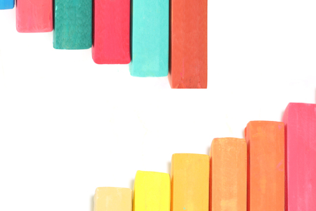 crayons in a white background 写真素材