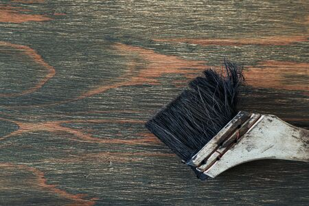 brush on the wooden board