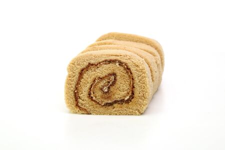 swiss roll in a white background