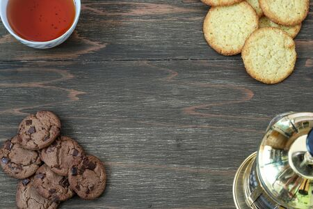 cookies in a wooden background