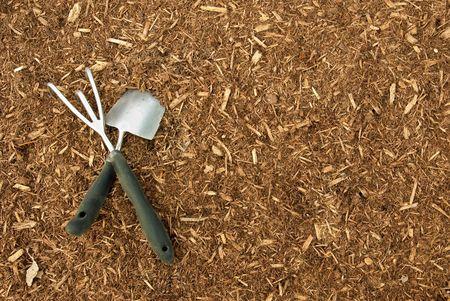 bark mulch: Garden Tools on Bark Mulch