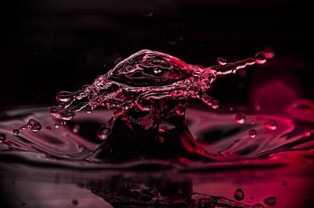Two waterdrop collide forming a broad splash