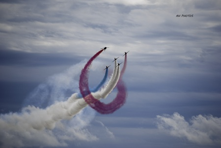 red arrows: red arrows Stock Photo