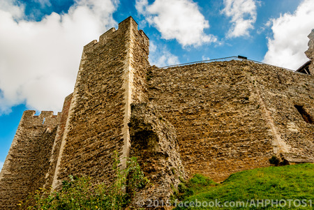 castle wall: Castle wall and embankment Stock Photo
