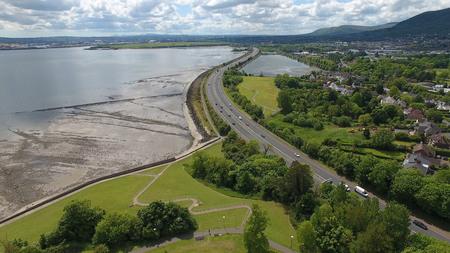 Aerial photo of Altagore Cashel 5 Co. Antrim Northern Ireland 2017 Stock Photo