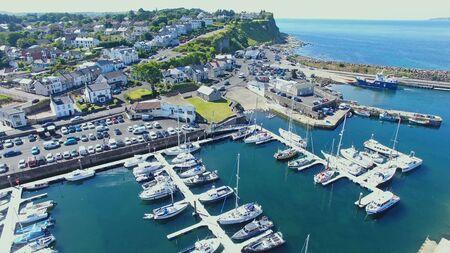 Ballycastle Harbour Atlantic Ocean Co. Antrim Northern Ireland Imagens
