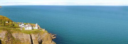 Panoramic Landscape of Blackhead Lighthouse Belfast Lough Co Antrim Northern Ireland