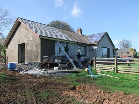 Building new homes at a construction site in Ireland including roofers joiners builders painters labourers,