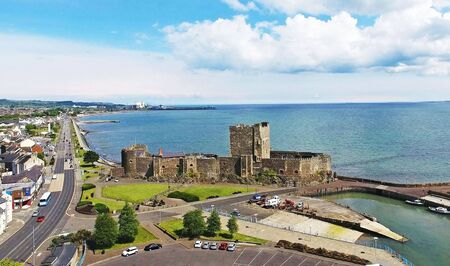 Carrickfergus Castle Co. Antrim Northern Ireland Imagens