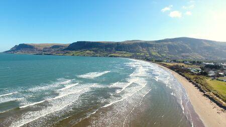 Glenariff waterfoot Co Antrim Northern Ireland Imagens