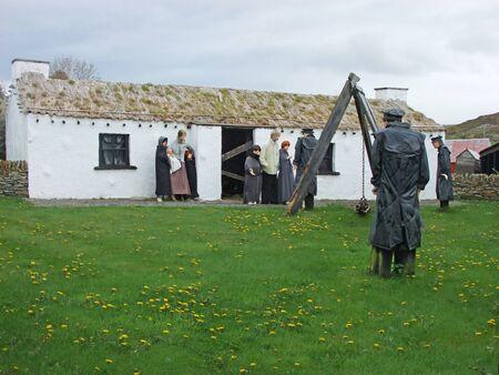 Old Irish famine Village Co. Donegal Ireland Imagens