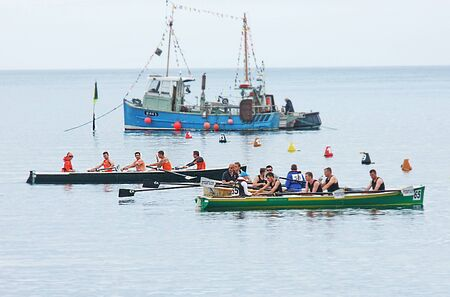 Rowers at the Irish Coastal Rowing Championships Carnlough Co. Antrim