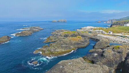 Rocks on Atlantic Ocean at Giants Causeway Co. Antrim Northern Ireland