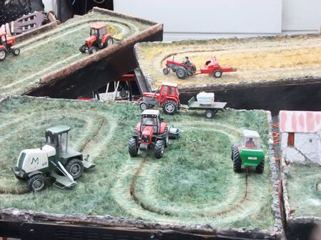 Toys Farmyard Sheds Buildings Barns animals tractors 스톡 콘텐츠