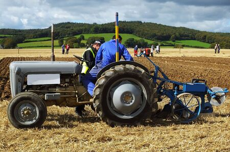 Tractor Ploughing at an agricultural Show Reklamní fotografie