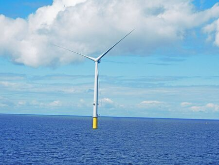 Wind Turbine erection offshore sea ocean