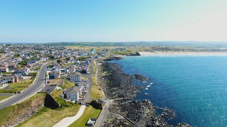 Portstewart Town Atlantic ocean north Coast Co. Antrim Northern Ireland Reklamní fotografie