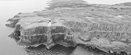East Lighthouse Rathlin Island Aerial photo Atlantic Ocean Co. Antrim Northern Ireland Imagens
