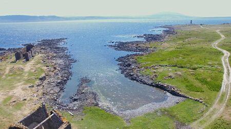 Rue point Rathlin Island Aerial photo Atlantic Ocean Co. Antrim Northern Ireland