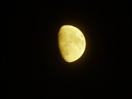 Photo of a yellow Moon