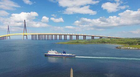 New bridge across the Irish Sea between Northern Ireland and Scotland to linking to UK Mainland